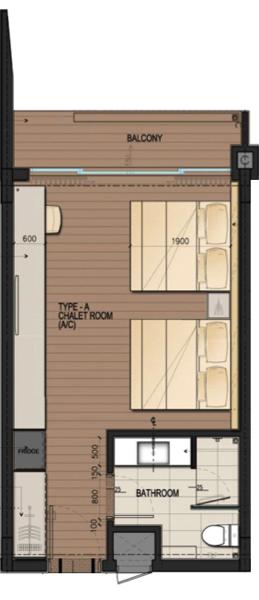 DResort - Mangrove View room layout