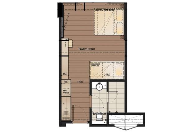 DResort - Rainforest Family room layout