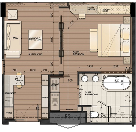 DResort - Rainforest Suite room layout