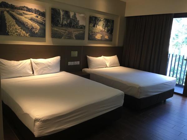 D'Resort - inside Park View room - bed area
