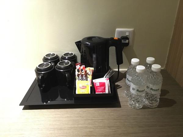 D'Resort - inside Park View room - refreshments