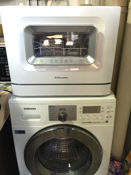 Electrolux Dishwasher ESF2433W - installation with washer machine (final setup)