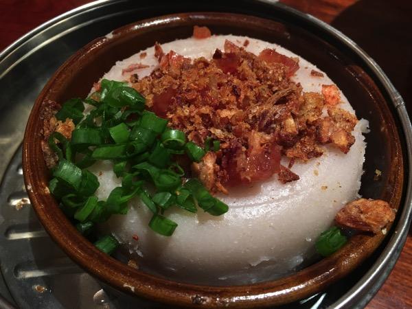 Soup Restaurant buffet - earthen bowl yam cake