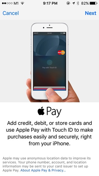 Apple Pay launched in Singapore - Add Credit Card - Step 2