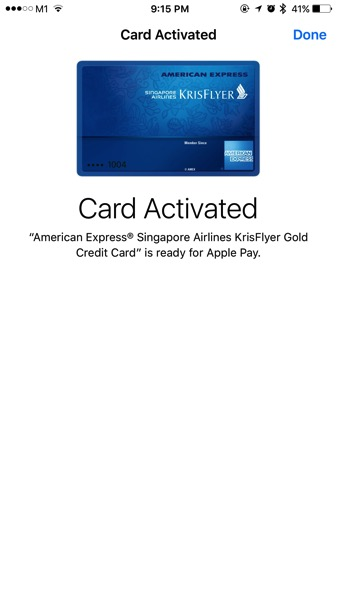 Apple Pay launched in Singapore - Add Credit Card - Step 5
