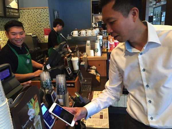 Apple Pay launched in Singapore - payment at retail store - iphone at Apple Pay Scanner