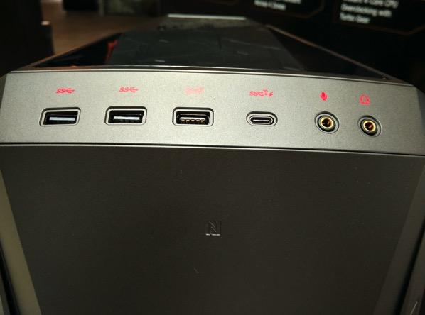 ASUS ROG GT51 - top ports