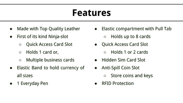 Aki Crazy Horse Leather Wallet - Overview of key features