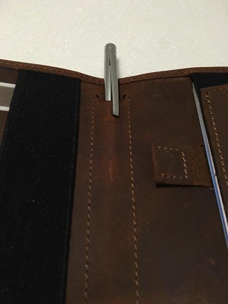 Aki Crazy Horse Leather Wallet - Pen Slot