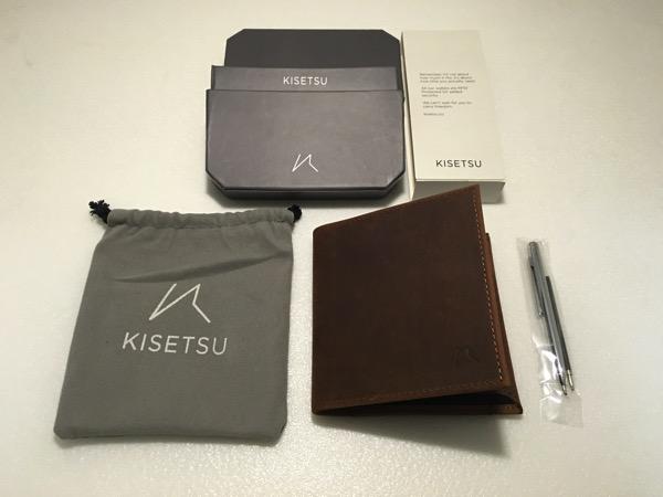 Aki Crazy Horse Leather Wallet - full set items