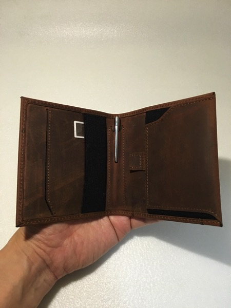 Aki Crazy Horse Leather Wallet - fully loaded wallet