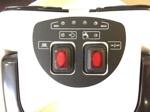 Karcher SV7 Steam Vacuum Cleaner - main switches