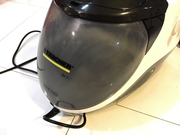 Karcher SV7 Steam Vacuum Cleaner - vacuum in operation (water tank)