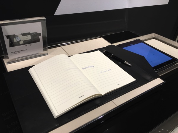 Montblanc Black and White cocktail event - electronic writing
