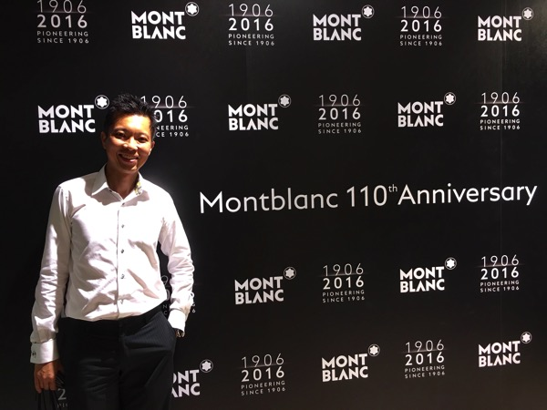 Montblanc Black and White cocktail event - pose shots