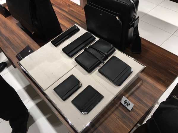 Montblanc Black and White cocktail event - wallets