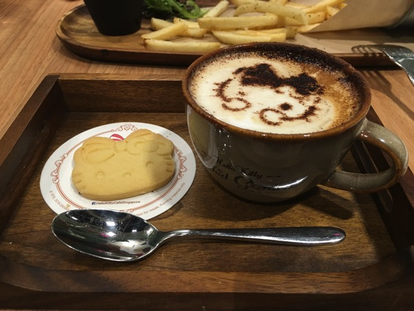 Hello Kitty Orchid Garden Singapore Cafe - Coffee Latte