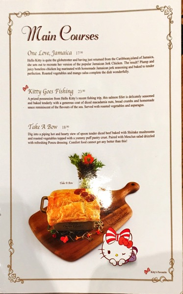 Hello Kitty Orchid Garden Singapore Cafe - Food Menu Pg5