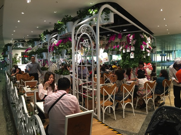 Hello Kitty Orchid Garden Singapore Cafe - Main Entrance view