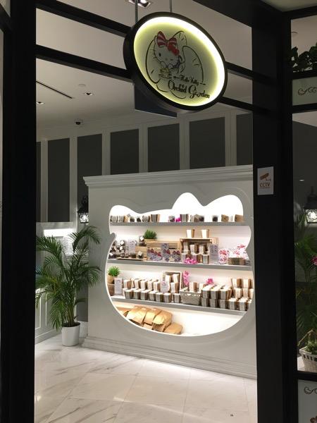 Hello Kitty Orchid Garden Singapore Cafe - merchanidise section