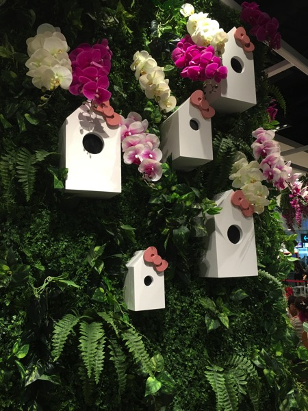 Hello Kitty Orchid Garden Singapore Cafe - orchids on the tree