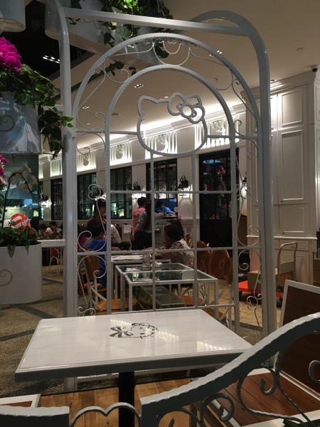 Hello Kitty Orchid Garden Singapore Cafe - seating view