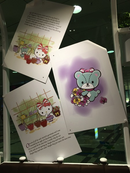 Hello Kitty Orchid Garden Singapore Cafe - storyline part1