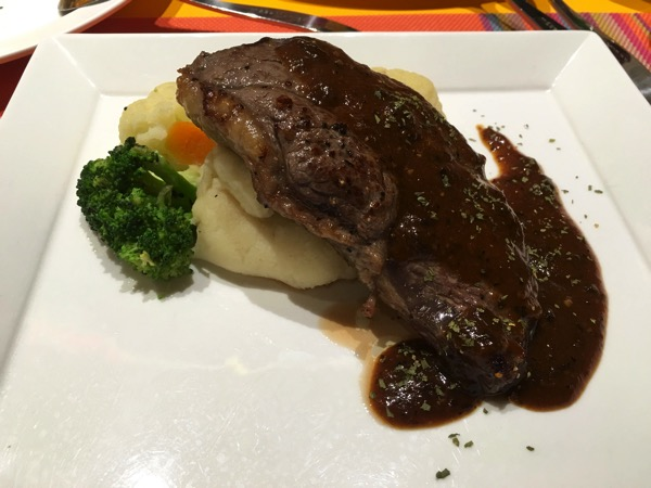 IBIS Styles Macpherson (Accor group hotel chain) - chat and chow dining restaurant (sirloin steak)