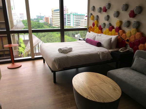 IBIS Styles Macpherson (Accor group hotel chain) - room (bed window facing)