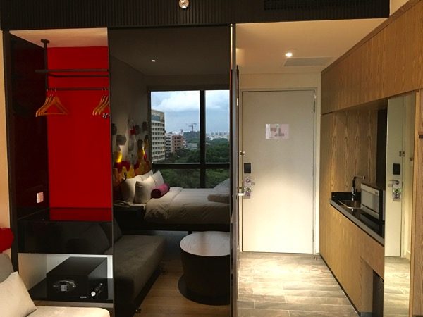IBIS Styles Macpherson (Accor group hotel chain) - room entrance & kichenette