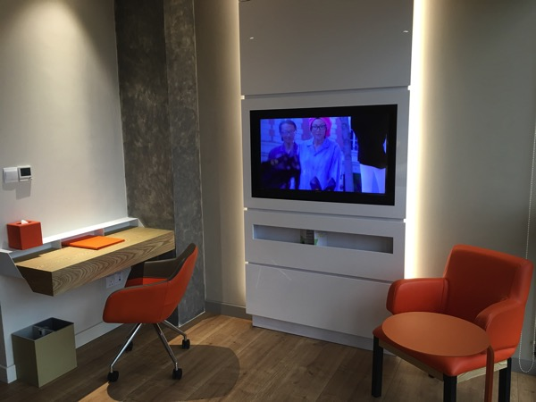 IBIS Styles Macpherson (Accor group hotel chain) - study desk area and TV