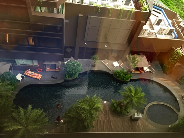 IBIS Styles Macpherson (Accor group hotel chain) - swimming pool (from room view)