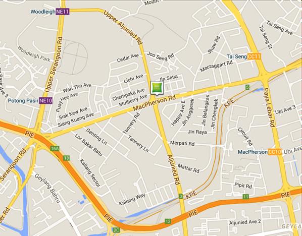 IBIS Styles Macpherson - Location map