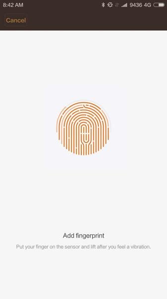 Xiaomi Mi 5 (小米手机5) Smartphone - setup fingerprint lock