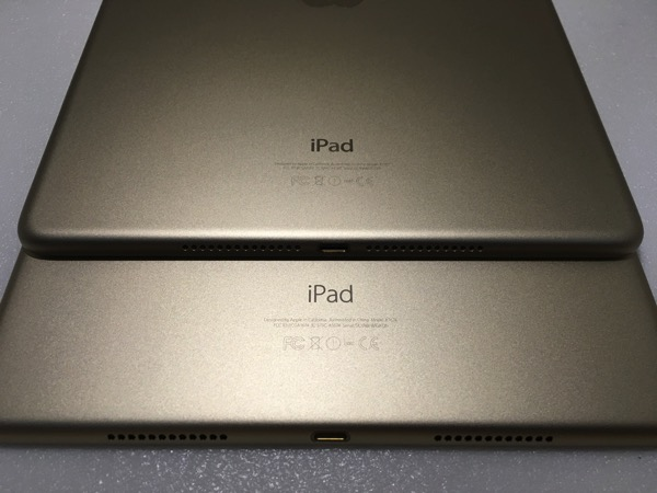 iPad Pro 9.7inch vs 12.9inch - back bottom view