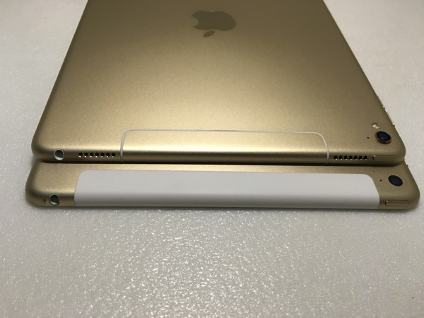 iPad Pro 9.7inch vs 12.9inch - back top view
