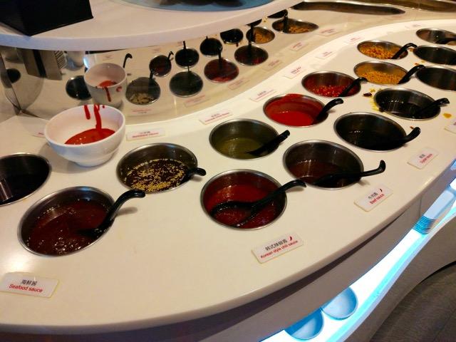 海底捞火锅 Hai Di Lao Hot Pot - variety of sauces condiments