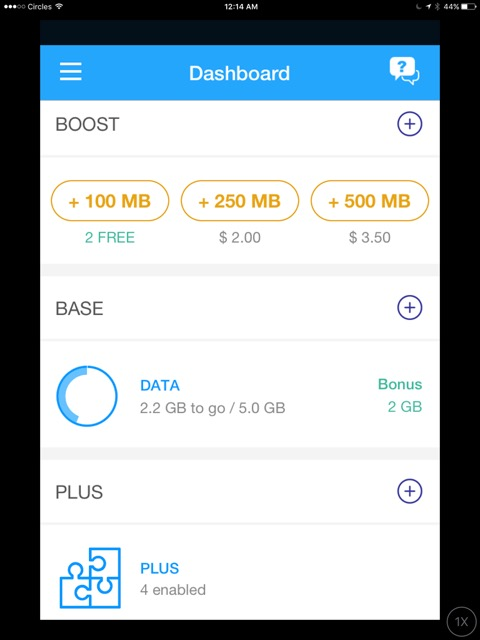 Circles Life - New Telco in Singapore - App dashboard