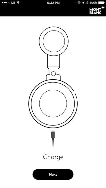 Montblanc eTag - setup - initiate pairing
