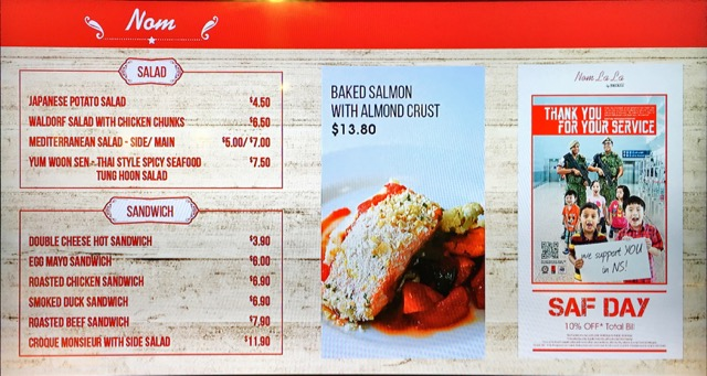 Nom La La (Bakerzin) at Safra Punggol - food menu 1