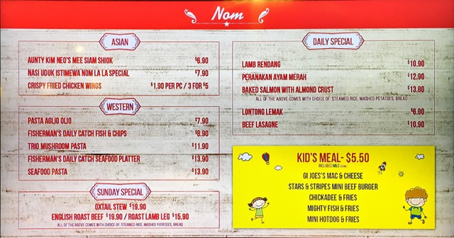 Nom La La (Bakerzin) at Safra Punggol - food menu 2