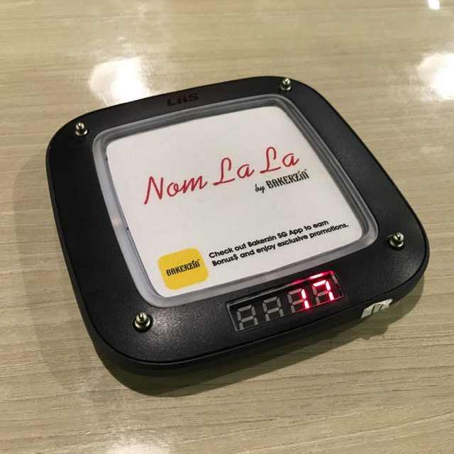 Nom La La (Bakerzin) at Safra Punggol - queue buzzer