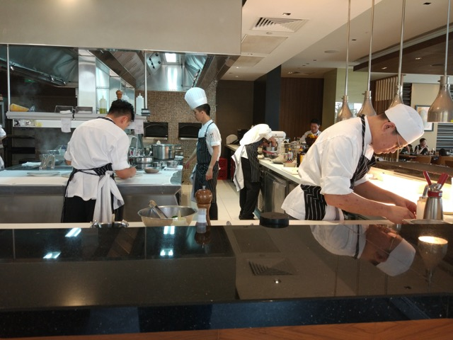 RWS Osia Restaurant - Open Kitchen view