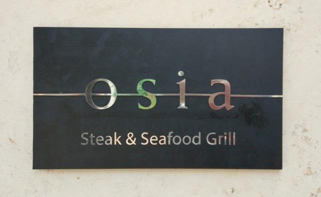 RWS Osia Restaurant - signboard