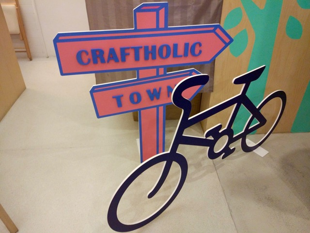 craftholic-singapore-pop-up-cafe-bicycle-signboard