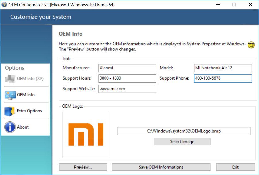 Xiaomi Mi Notebook Air Review - Setup OEM Logo (Config)
