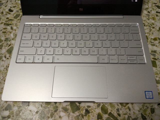 Xiaomi Mi Notebook Air Review - keyboard view