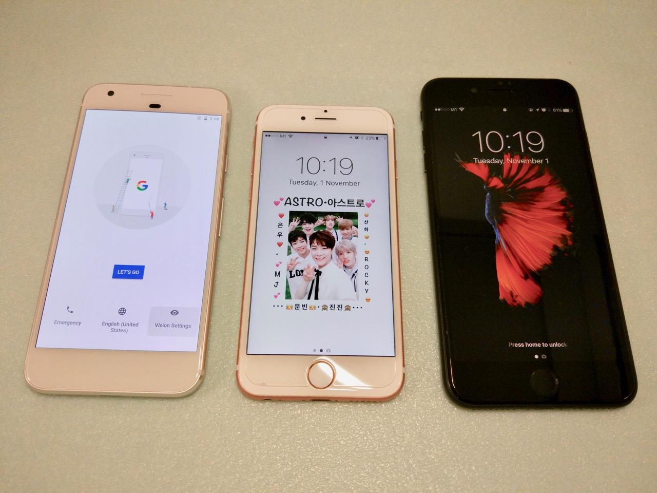google-pixel-review-compare-pixel-vs-iphone-7-vs-iphone-7-plus