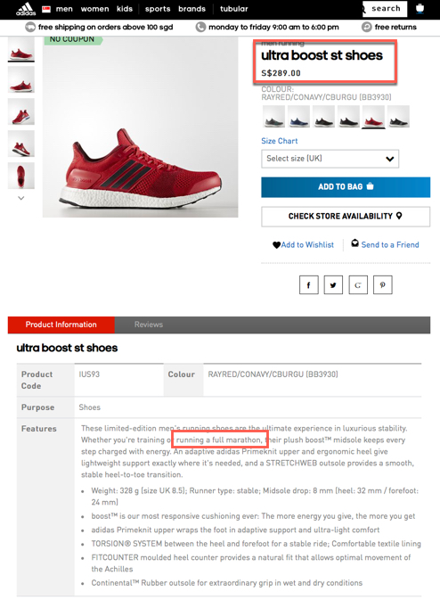... specifications (on the official Adidas website) or claims on their  partner s (Continental) website. The shoes is designed and built for  Marathon runners ... 4ed5f615f1a4